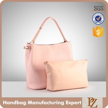 4033 Big Small Handbags for Young Lady PU Women Bag Set