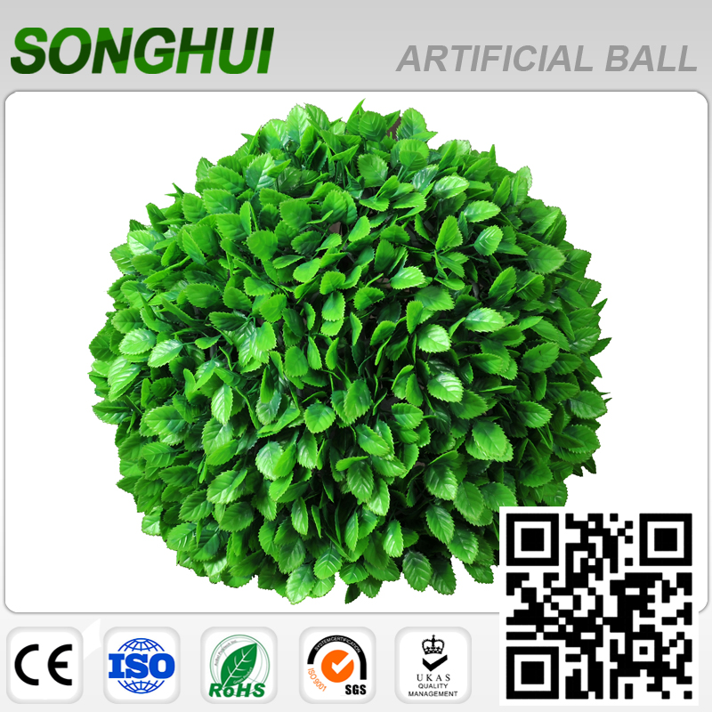 2017 new products uv resistance artificial boxwood ball plant for sale