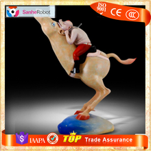 Amusement Park Carrousel Horse Seat Simulator Horse Model Riding Machine for Sale