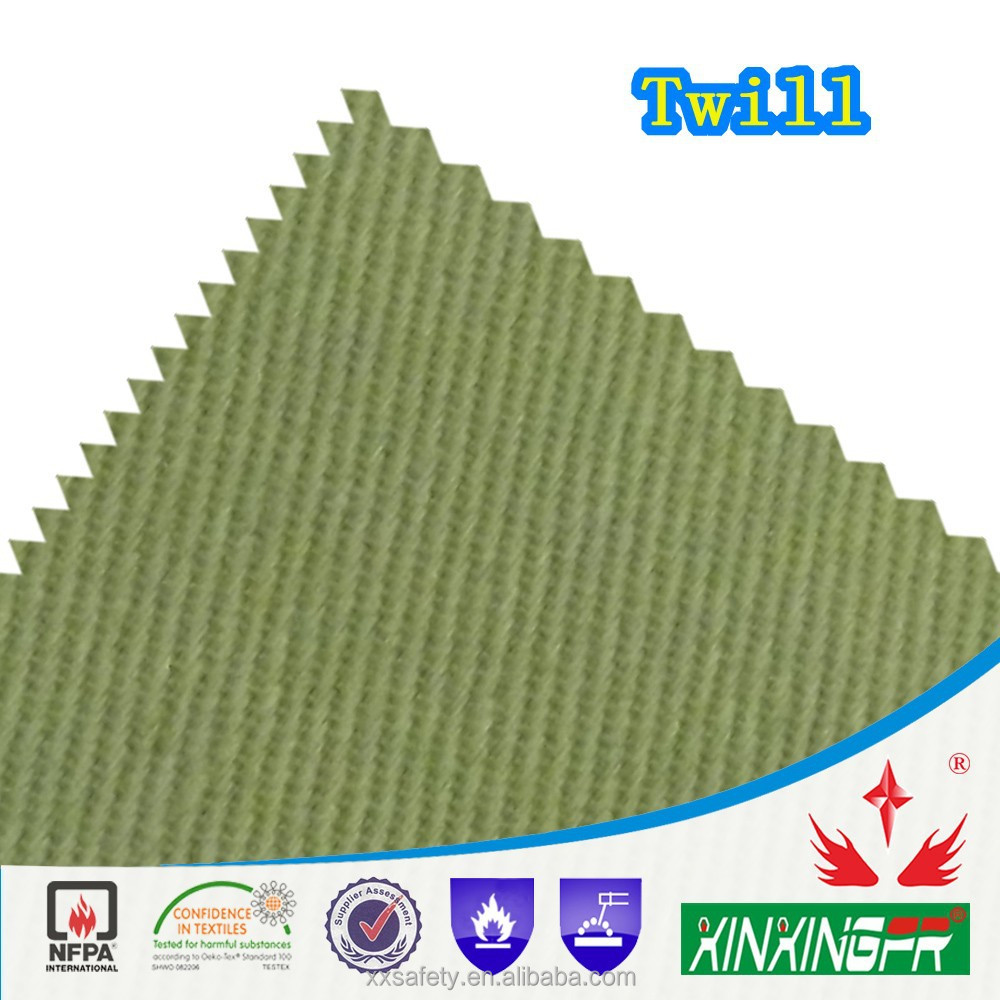 Pass C-TPAT certificate 320 gram 100% cotton permanent flame resistant twill fabric for clothing