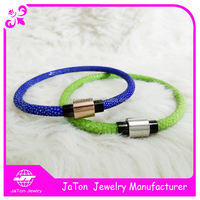 New Design Fashion 4.5mm Blue Green Stingray Bracelet Cord ,Stingray Jewelry For Girls Gift