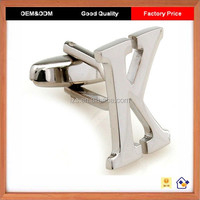 Top Quality High Polishing K Letter Cufflinks