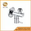 3 Way Brass Angle Stop Water Valve With Short Nut