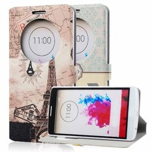 wholesale cell phone cases color printing leather case for lg g3 stylus