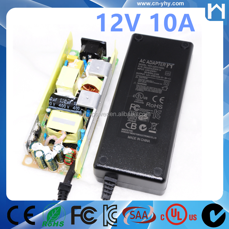 TUV KC RCM approved 120W DC 12V 10A AC-DC power supply EN60950 Power Adapter
