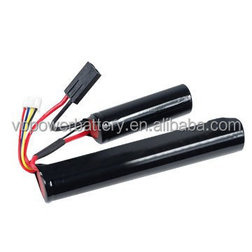 LiFe Batteries with 9.9V 1,100mAh 15C Discharging Current, Used for Crane Stock Air-soft Gun