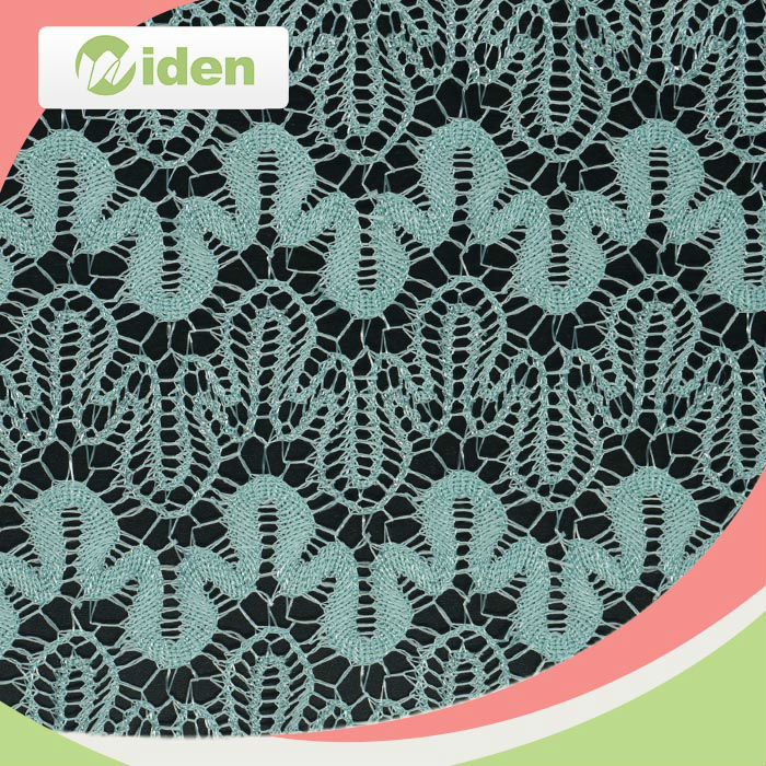 2016 fancy design blue color fine nylon mesh 40 denier nylon tricot lace fabric