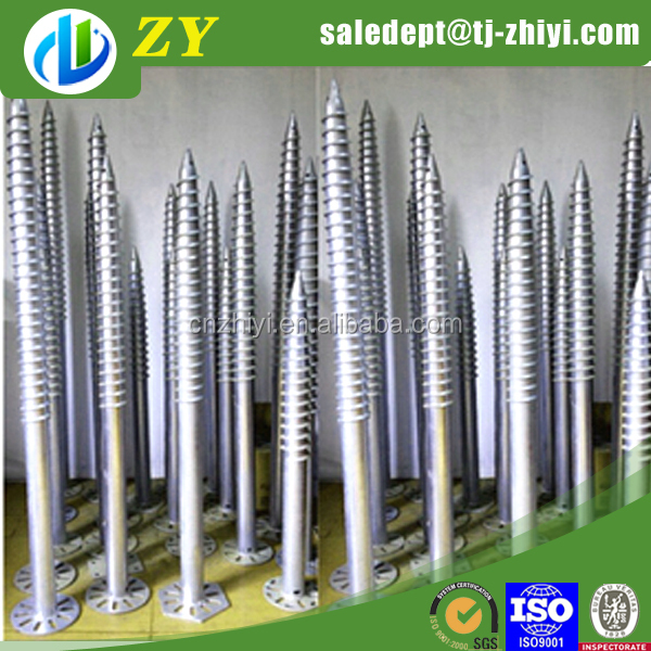 Wholesale hot dipped galvanized foundation helical piles piers and foundation pilings