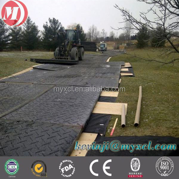 interlocking oilfield ground protection mats,temporary access roadways with anti-impact uhmwpe material plastic sheet