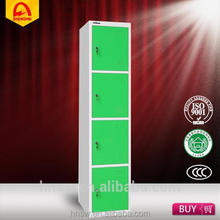 Alibaba express colourful 4 tiers compartment steel locker with CE certificate