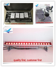 Outdoor Linear DMX512 IP65 Bar RGB LED Wall Washer 18x18w 6in1 rgbaw uv ip65 wall washer led