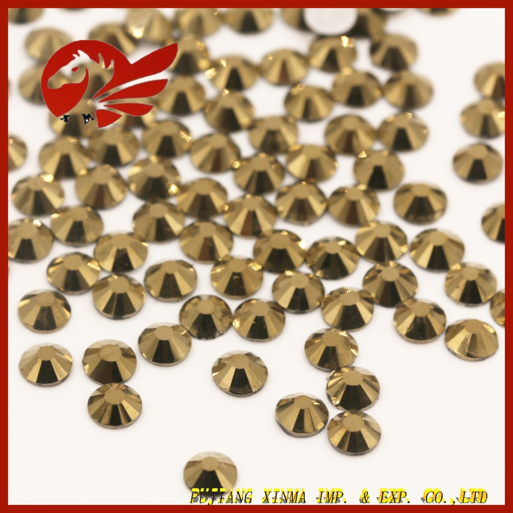 Bulk rhinestones wholesale gold-plating Non Hot Fix Rhinestone ab <strong>Crystal</strong>