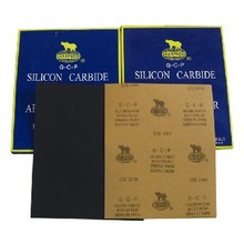 Sharpness kraft Silicon Carbide waterproof sand paper 230mmx280mm Grit 60-2000 for car painting remove and cleaning