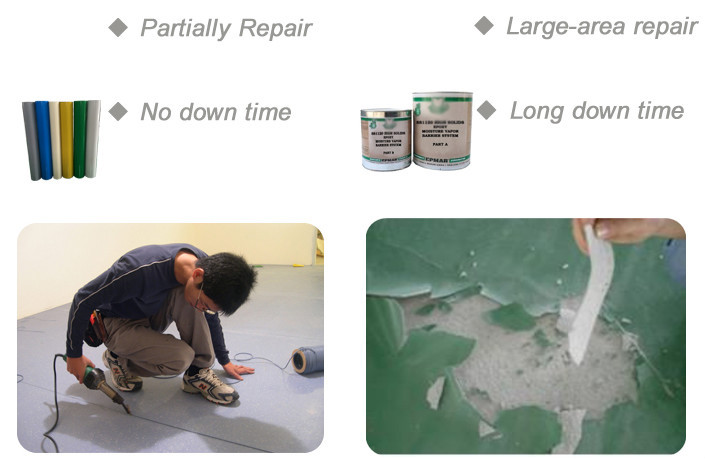 High strength epoxy resin flooring roll and pvc floor