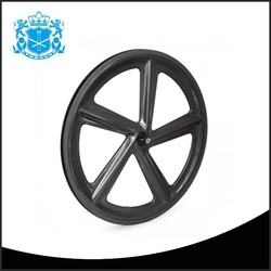 Xiamen 23mm width 66mm depth 5 spoke bicycle wheel