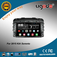 ugode factory supply 16gb car dvd player with gps for kia sorento android car stereo