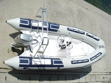 hypalon inflatable rib boat with fiberglass bottom, PVC inflatable rib boat with fiberglass bottom