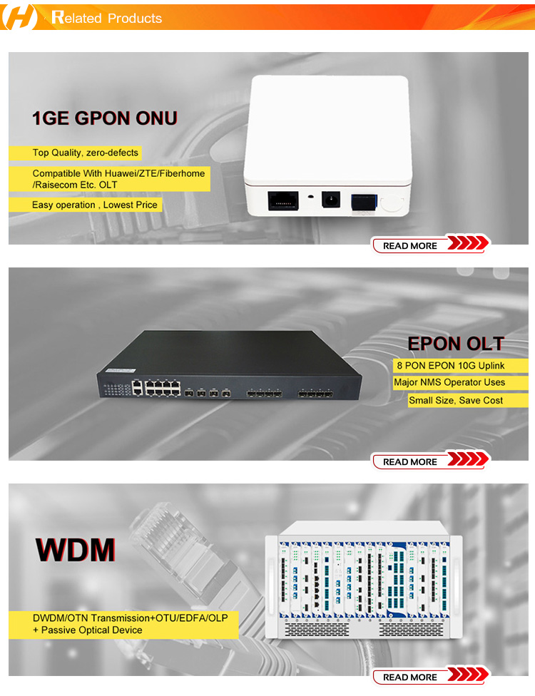 Competitive price for zte chipset 1ge gpon onu small in size