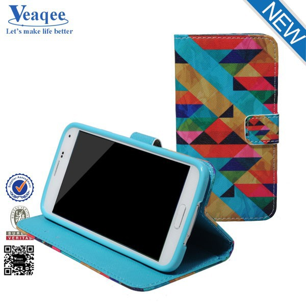 Veaqee book style flip case leather cover for samsung galaxy s5