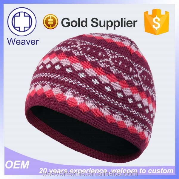 Aibaba Best High Quality Custom Cheap Red Merino Wool Beanie Hat in China