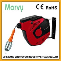 220V automatic electrical lamp retractable cord reel for lighting