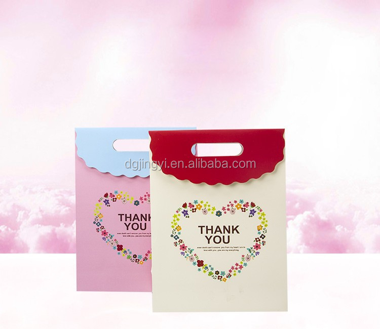High quality lovely Valentine's Day paper gift packaging bag with custom logo