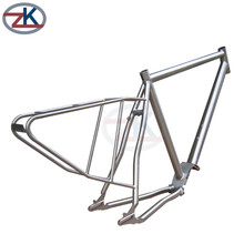 Polishing surface High performance road bicycle frame use gr9 alloy titanium tube