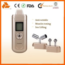 mini facial galvanic beauty machine with 3 optional heads for facial care