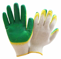 Wholesale Russian Red Yellow Latex Rubber Palm Wholesale Working Gloves