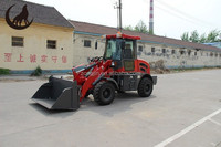 China compact mini front end wheel loader 1200kg ,joystick control front end wheel loader zl12