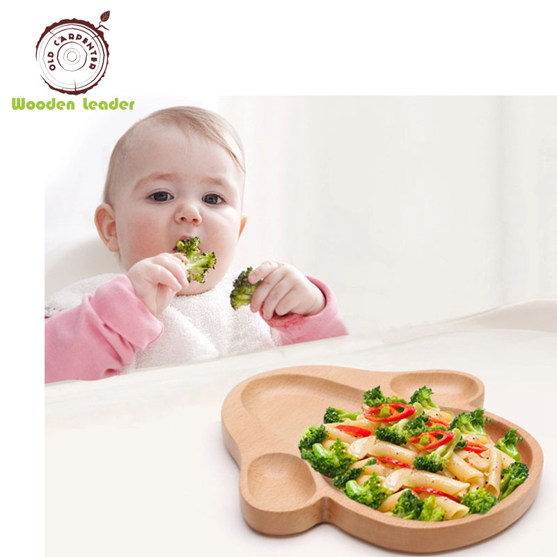 High Quality <strong>Natural</strong> Kids Wood Dinner Plate Wholesale
