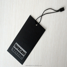 Cardboard custom hang tag with seal string