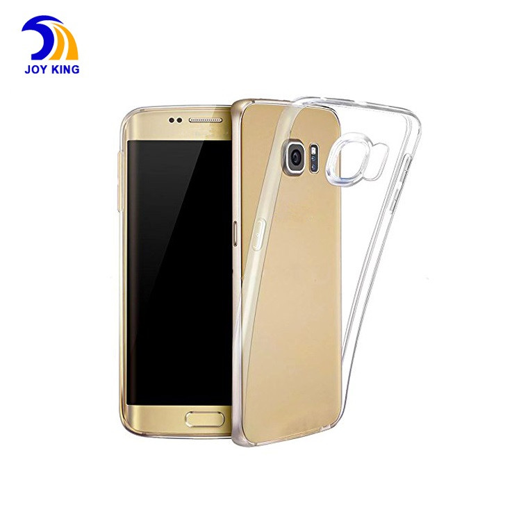 2016 bulk buy from china hot selling TPU clear gel case cover for samsung s6 edge accessories