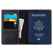 Personalized Leather Passport Holder, Cover - Card Organizer - Travel Wallet