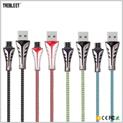 Wholesale 3ft / 6ft / 10ft customized nylon braided micro usb cable for android from China gold supplier