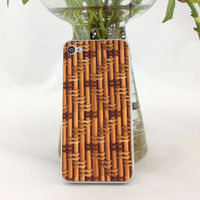 2014 New arrival cell phone protective skin sticker for Apple iPhone 4 4s,Retro wood grain mobile phone membrane