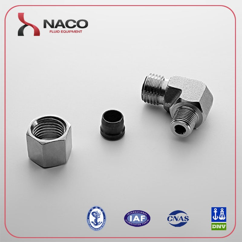 bsp thread 60 degree cone sealing or bonded seal stud ends 90 degree elbow