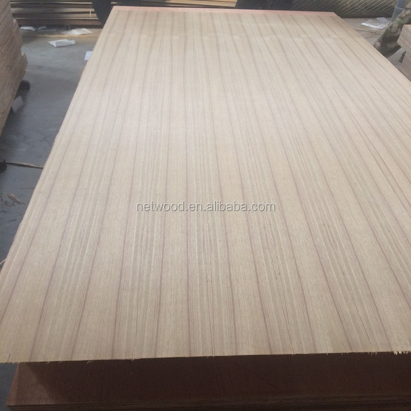 3-20mm More than 60 reusable times formwork 3-ply teak veneer ply wood ash plywood embossed face&back