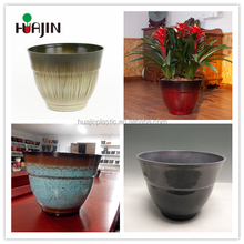Wholesale custom cute round plastic ceramic pots for plants