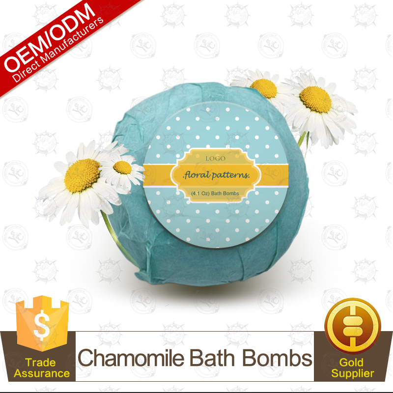 100% Natural and Organic Chamomile Spa Fizzy Bath Bomb Chinese Manufacturer Supply