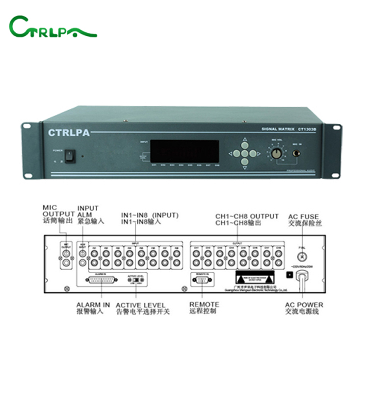 CTRLPA CT1303B Expandable and Seamless 8x8 Signal Matrix Switcher