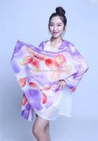 2016 hand printing 100%wool scarf no MOQ