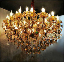 2013 Newest Design K9 Crystal Hotel Chandelier Lights with 24 Candle Bulbs MD8230 L16+8 D1000mm H780mm