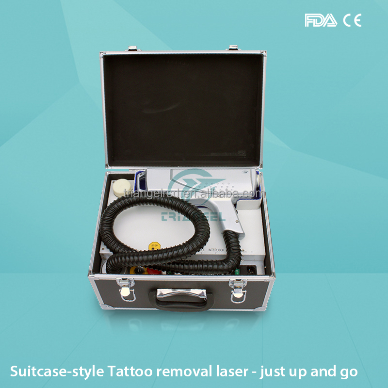 1064/532/1320nm Best portable Q-Switched Laser tattoo removal with nd yag laser handle
