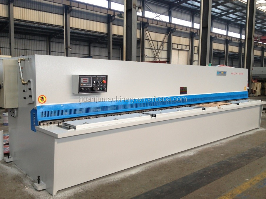 QC12Y Hydraulic cnc cutting machine iron , iron cutting machine CNC , shearing machine