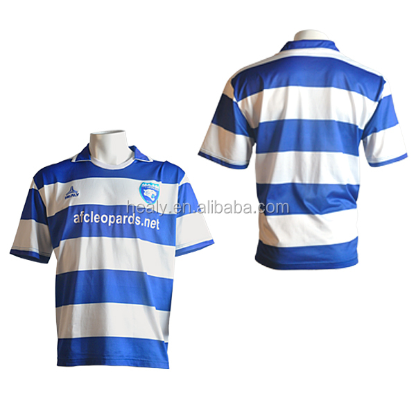 Big size mens striped football jersey