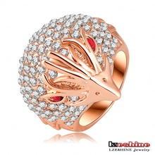 LZESHINEWholesale New Design Fashion Cut Hedgehog Rings 18K Rose Gold Plating&Crystals Party Animal Shape Rings Ri-HQ0201