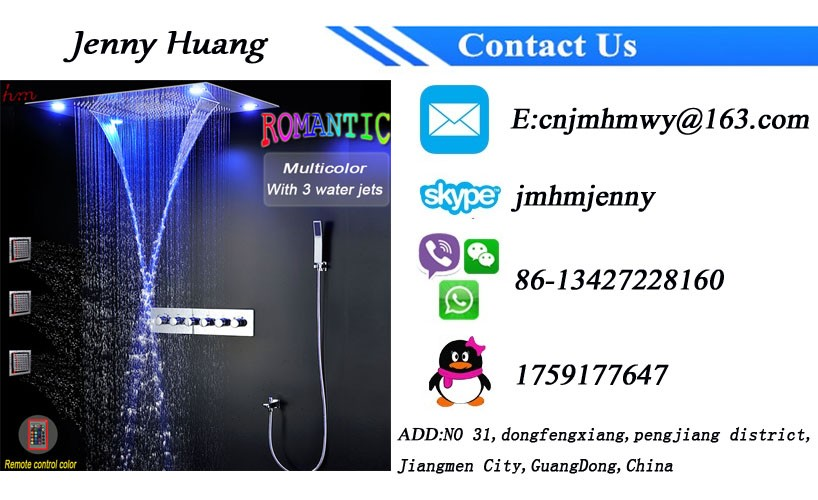 Ceiling Led Shower Set 600*800mm Shower Head Rainfall waterfall shower panel with shower controller