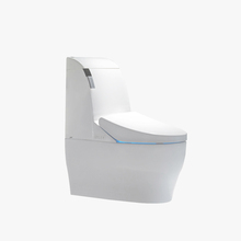 China ceramic modern one piece square human body sensor toilet