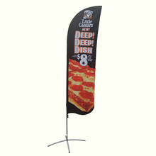 Custom promotional flying banner beach feather flag for sale